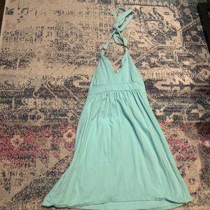 Victoria secret blue halter summer dress , bra top